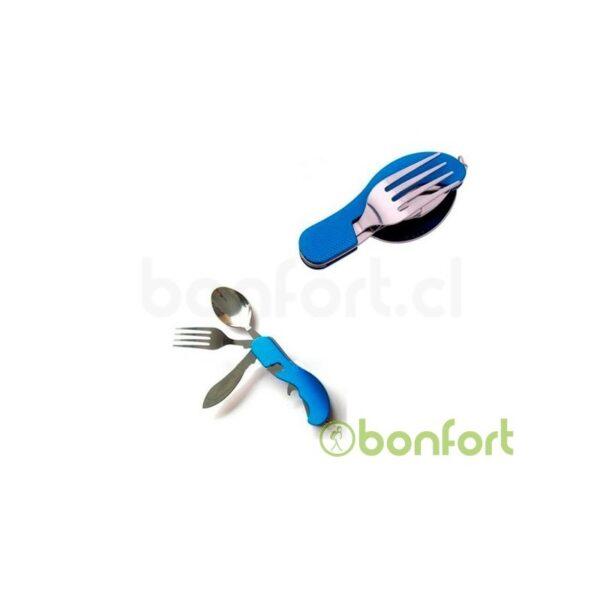 Navaja tipo suiza con tenedor y cuchara Grande