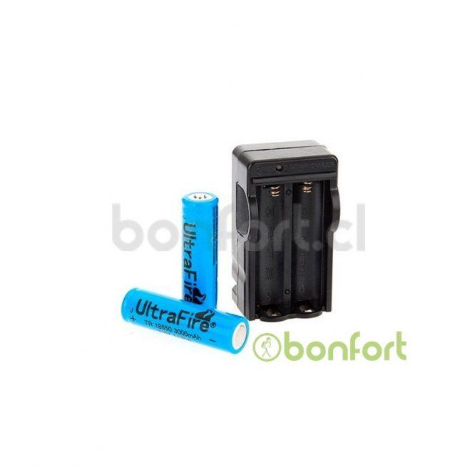 Cargador doble de bateria 18650