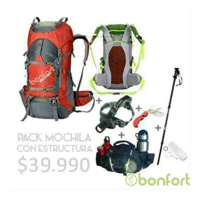 Pack Viajero Mochila con estructura
